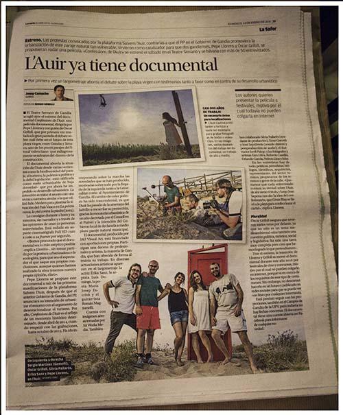Sylvia Pallarés Just en el periódico Levante
